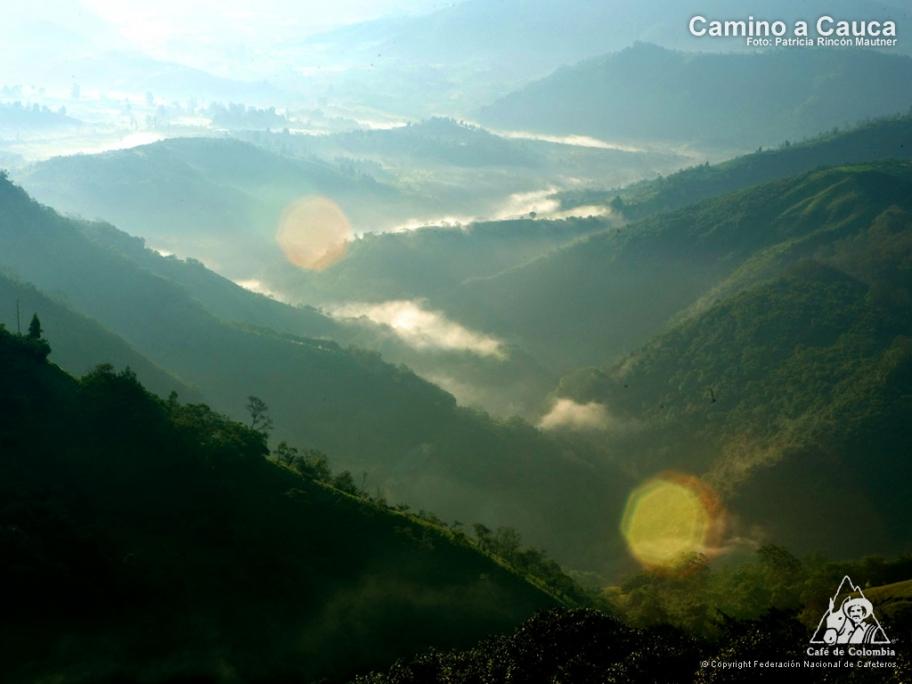 コロンビア カウカ県の山並み風景