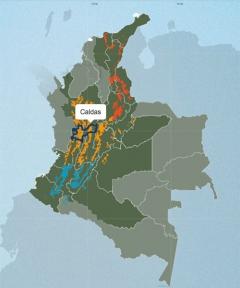 カルダス(Caldas)地図