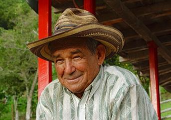 コロンビアコーヒーの産地、キンディオの人