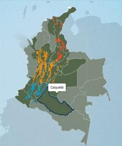コロンビア カケタの地図