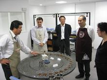 株式会社 エム・シー・フーズ訪問、コロンビアコーヒーのカッピング。