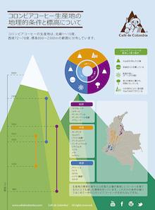 コロンビアコーヒーの地理的条件と標高について