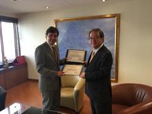 三菱商事様と国際支援プログラム