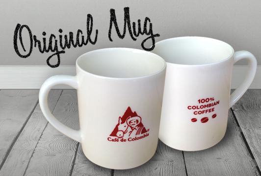 コロンビアコーヒーのロゴ入り オリジナルマグカップ
